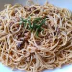 cevizli spagetti